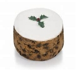 Gold Crown Round Iced Christmas Cake 400g