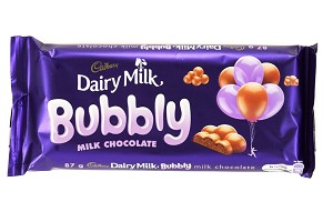 Cadbury Bubbly Dairy Milk Slab 89g