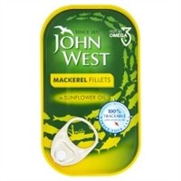 John West Mackerel Fillets 125g