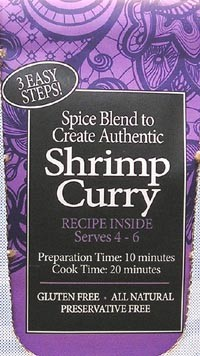 Spice Kitchen Shrimp Curry spice pack