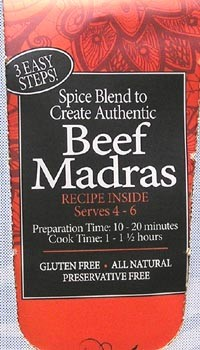 Beef Madras Spices